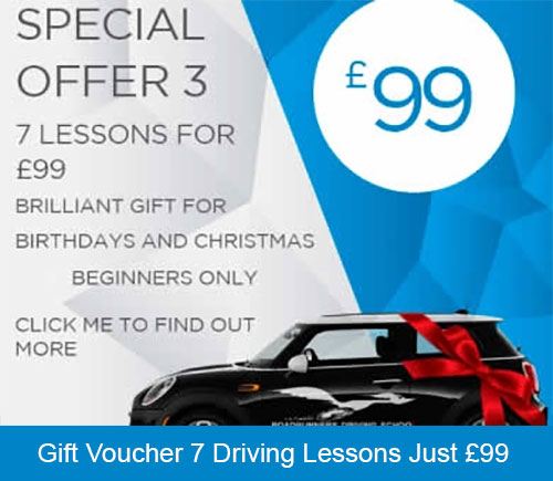 Gift Voucher for 7 Driving Lessons Just £99 at Roadrunners Driving school