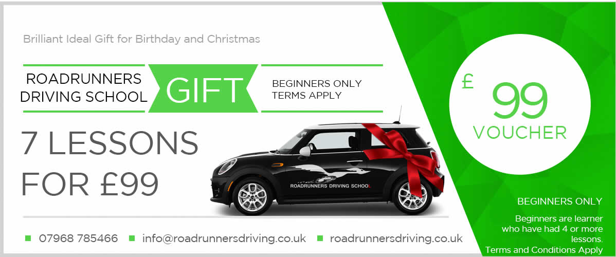 Gift Voucher for 7 Driving Lessons £99