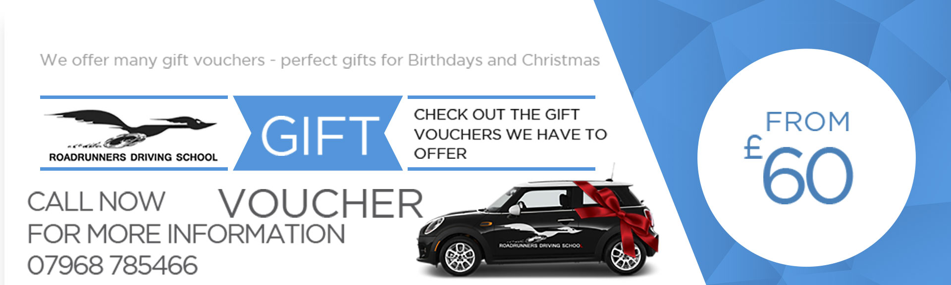 Gift Vouchers for Driving Lessons from £60
