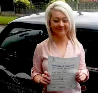 One of Roadrunners Driving Schools first Time Pass Students
