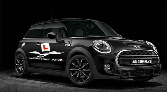 Mini Coopers used by Roadrunners Driving School for all lessons