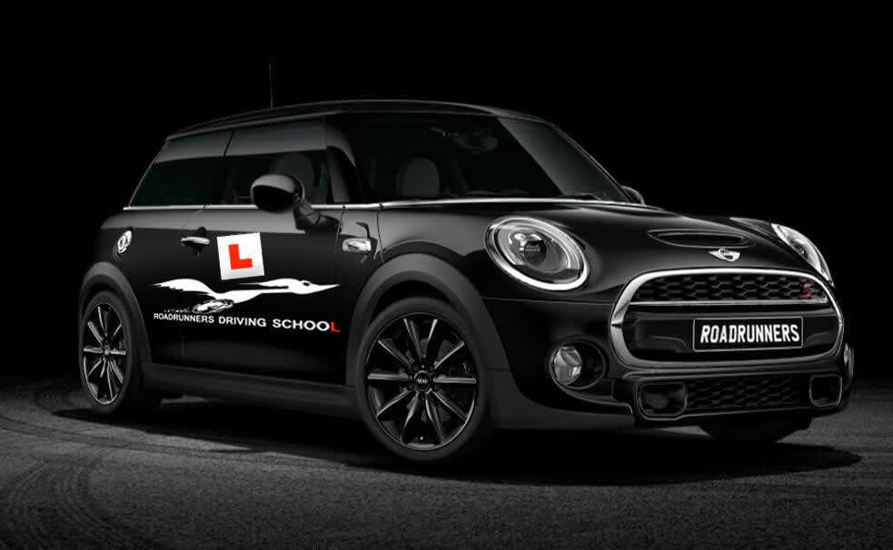 About Us at Roadrunners Driving School Kidderminster We use Mini Coopers to train new drivers